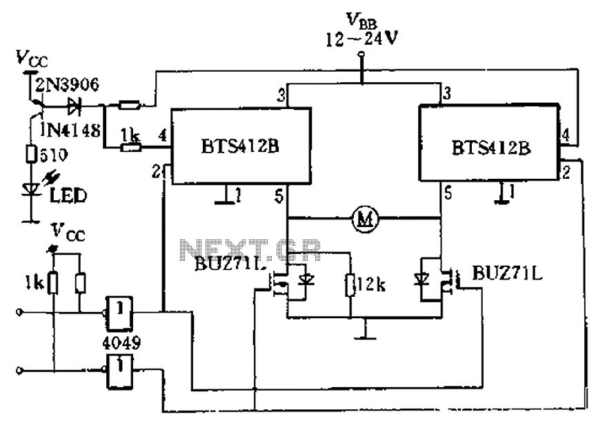 H-bridge driver circuit composed by the Smart SIPMOS under
