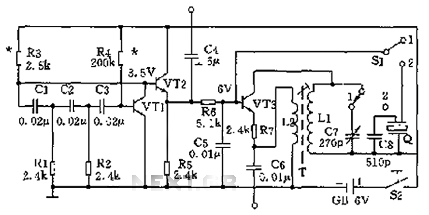 High and low frequency signal generator circuit diagram