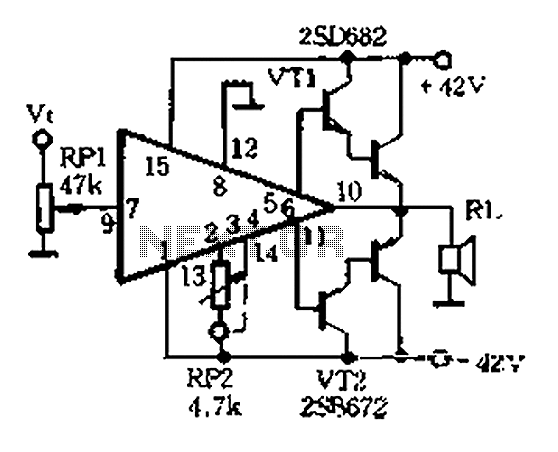 Inverting Amplifier With Class Ab