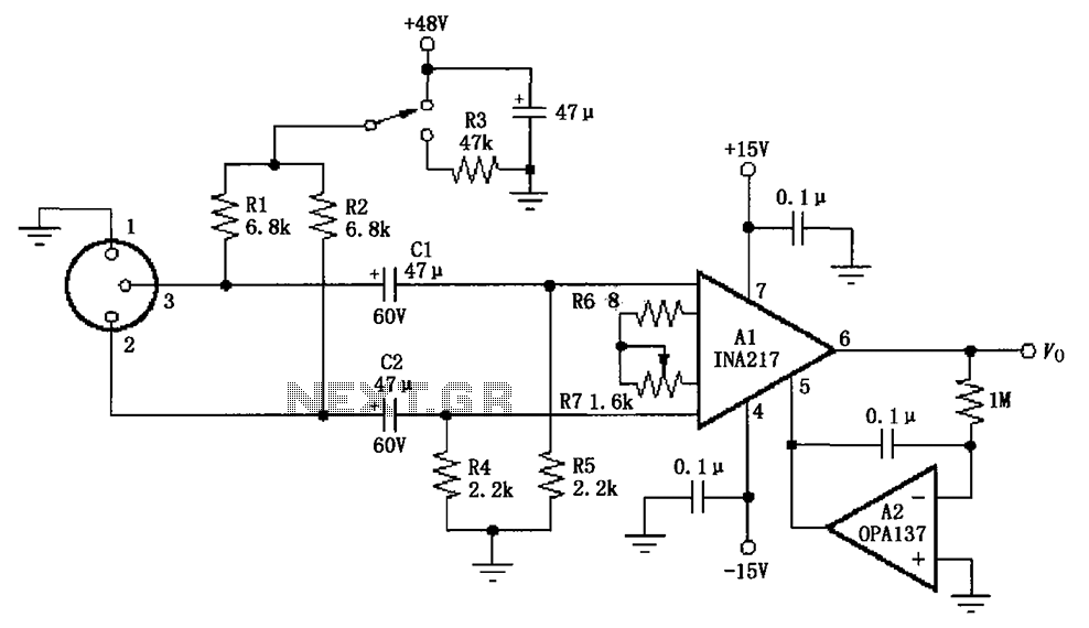 Mic Preamp Circuit Diagram