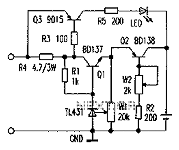 Battery Charger With Constant Current Circuit Diagram