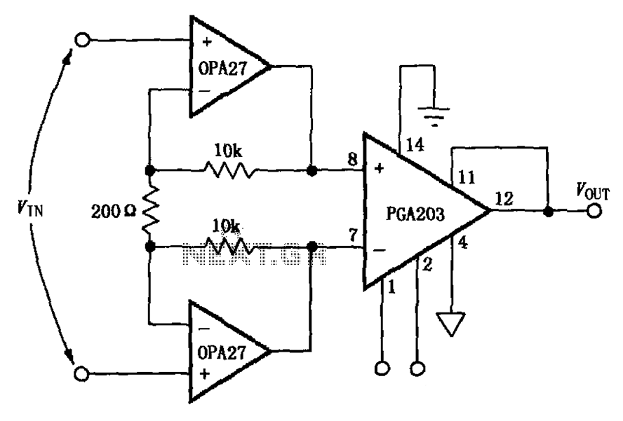 > other circuits > Low noise differential amplifier