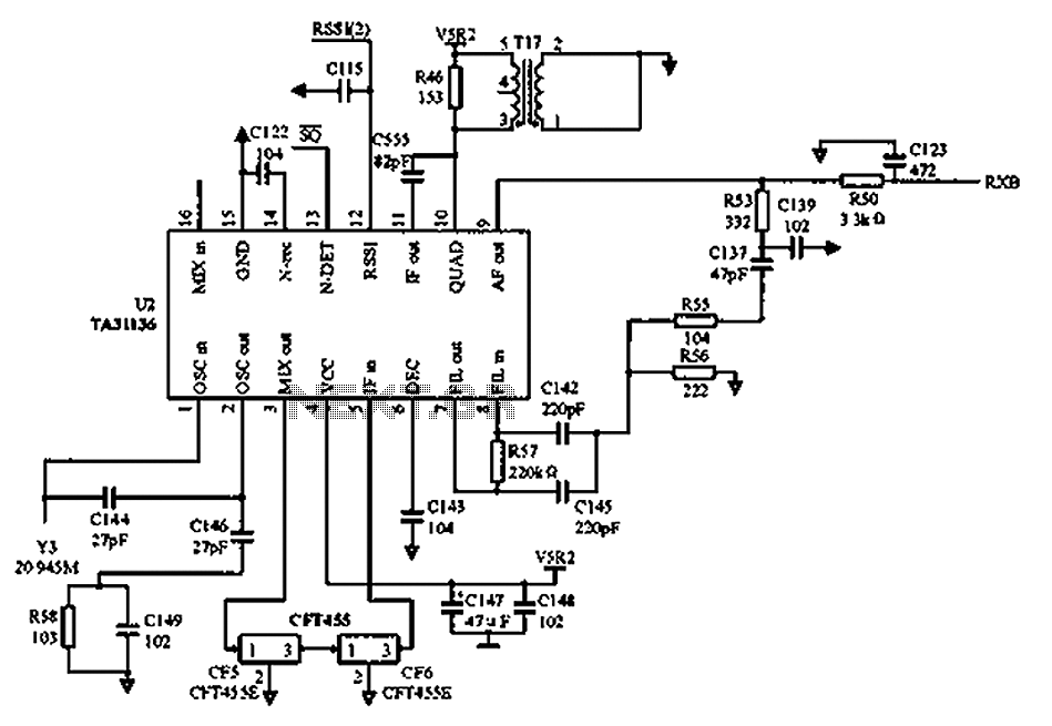 Radio reception circuit diagram TA31136 : Other Circuits