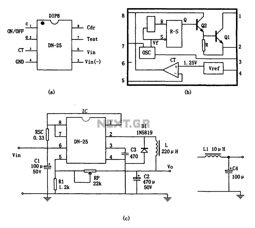 Switching power supply monolithic switching regulator DN
