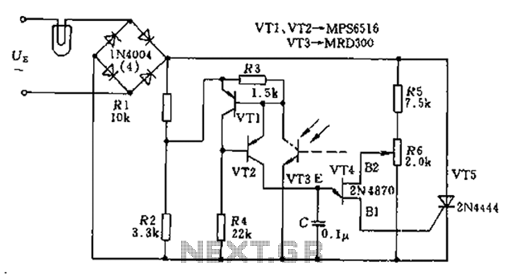 Thyristor AC automatic voltage regulator circuit diagram