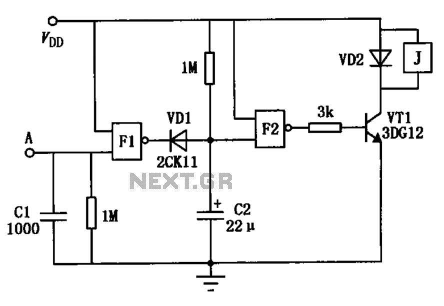 Touch delay switch a circuit diagram of a NAND gate