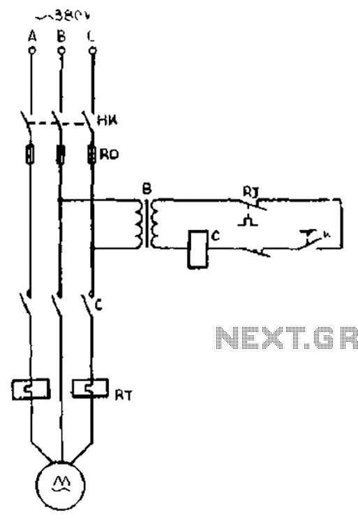 Turning gear from idling stop circuit diagram under Other