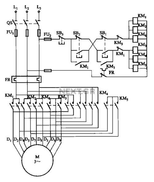 small resolution of motor control circuit page 5 automation circuits next gr 2y 2y connection two speed motor contactor