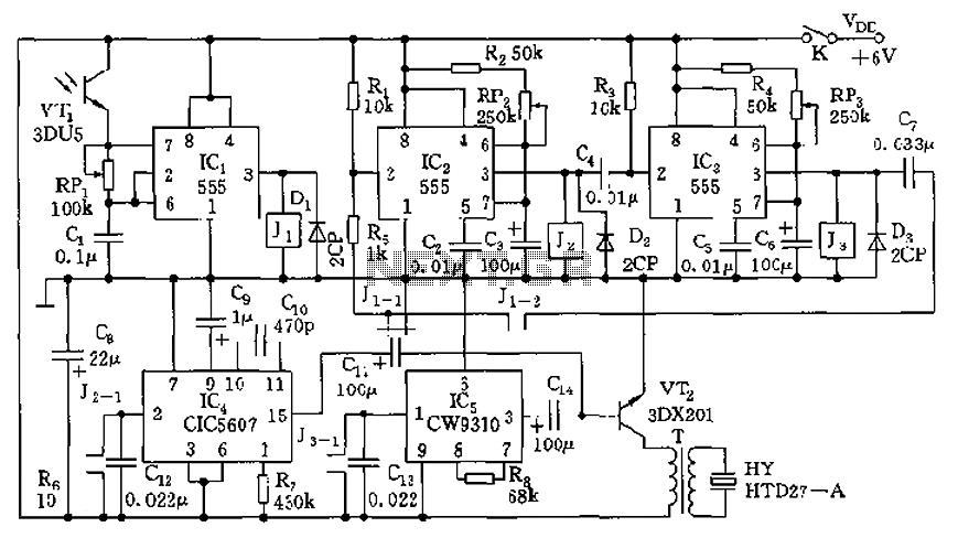 electronic circuit of metal detector
