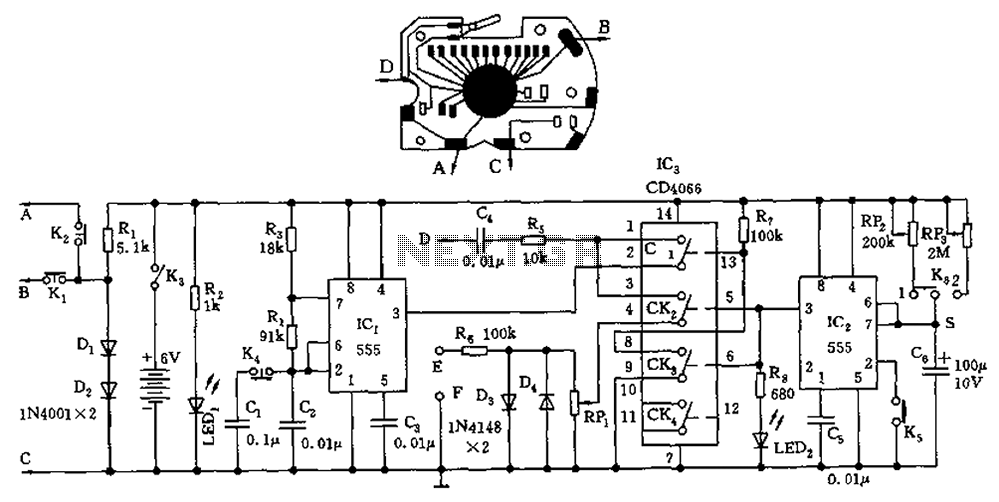 frequency meter circuit Page 2 : Meter Counter Circuits