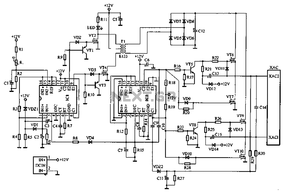 A common car inverter circuit and principle under