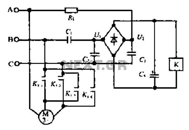 A motor reversing automatic adjustment circuit under Motor