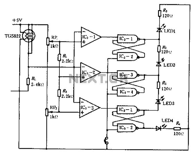 vibration sensor detector circuit motion detector alarm circuit