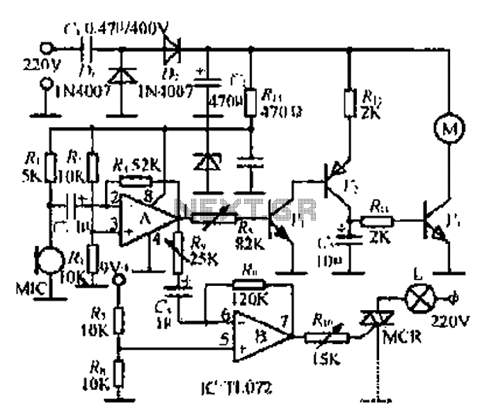 An electronic music rotating lights circuit under Musical
