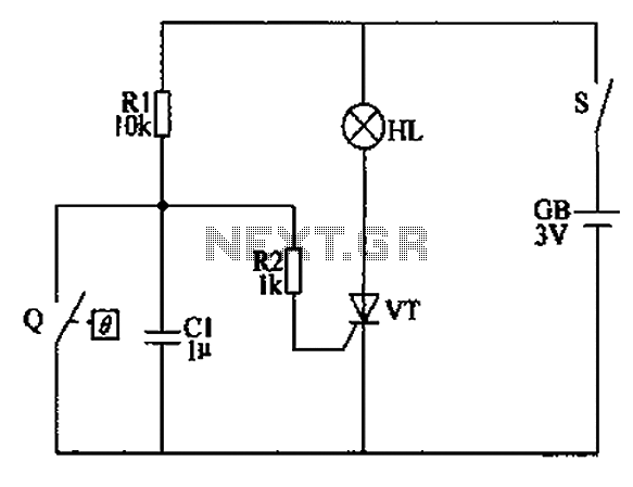 Automatic anti-frost crop controller circuit diagram under