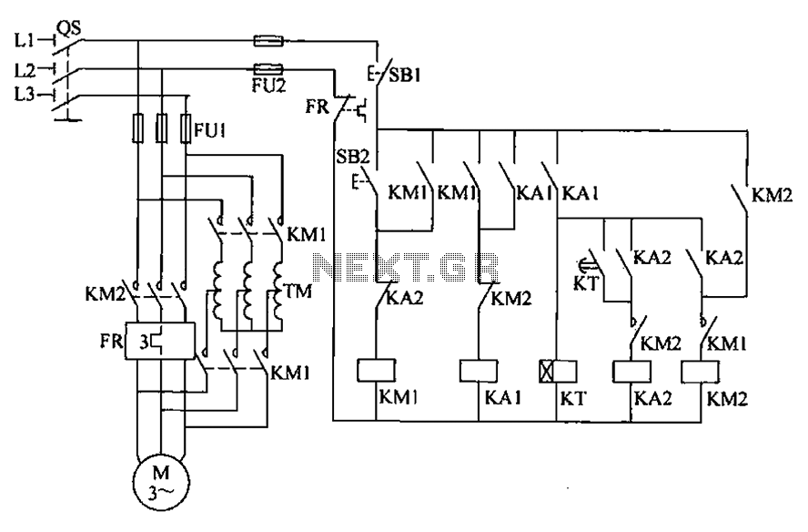 Auto Transformer Starter Control Circuit Diagram