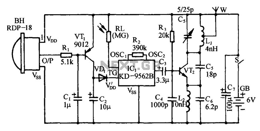 simple fm radio jammer circuit diagram