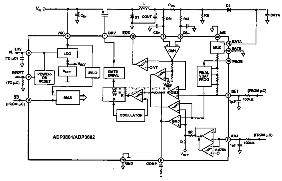 Charging circuit diagram personal work under Battery