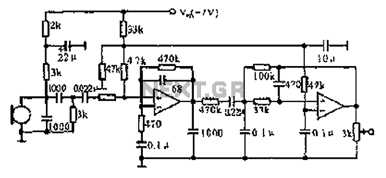Cordless telephone voice processing circuit diagram under