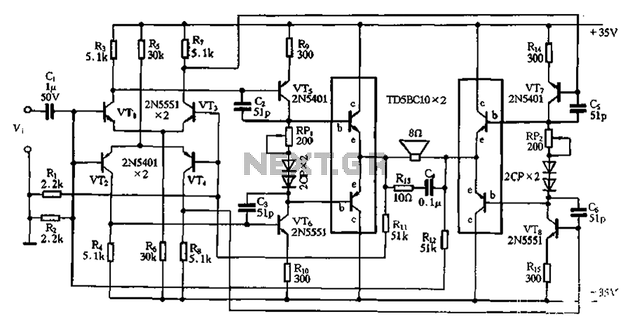> other circuits > DC bridge amplifier circuit l59694
