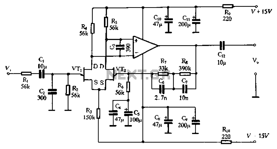 Figure 1 The Circuit Diagram Of Low Noise Pre Tone Control Circuit