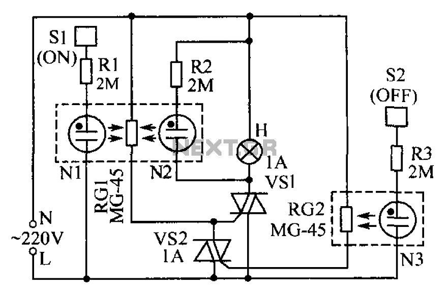 Lamp touch switch circuit diagram under Human Sensing