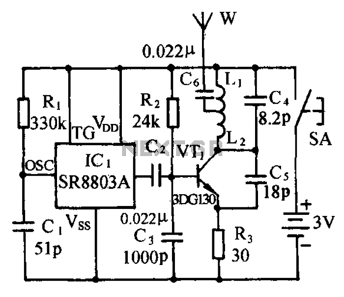 Micro Wireless Monitor FM FM transmitter circuit under FM