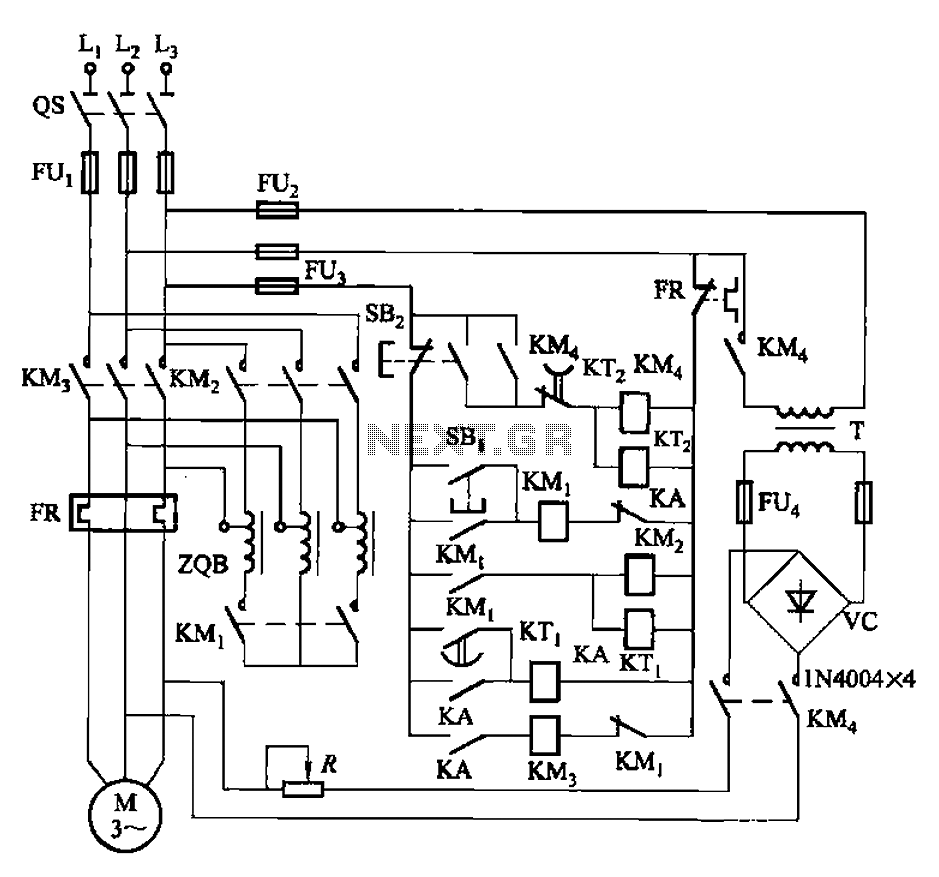 Nine one-way operation of the dynamic braking circuit