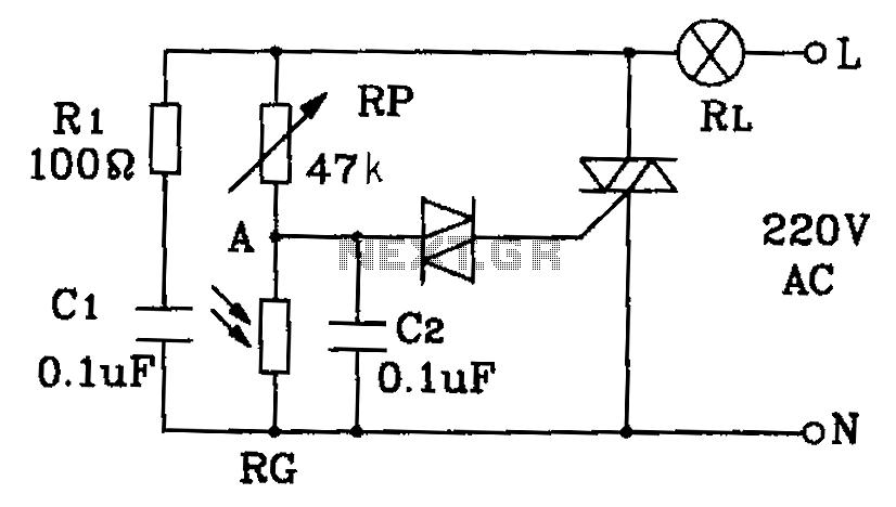 light sensor circuit Page 2 : Sensors Detectors Circuits