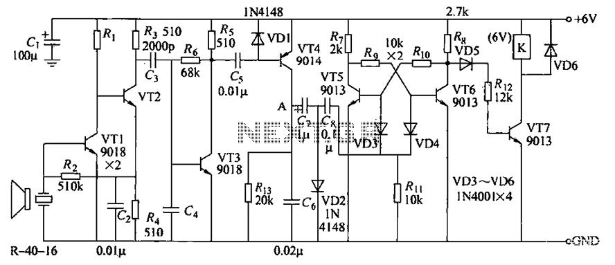 R-40-16 ultrasonic receiver circuit under Ultrasonic