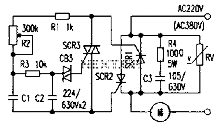 Simple and practical power SCR trigger circuit diagram
