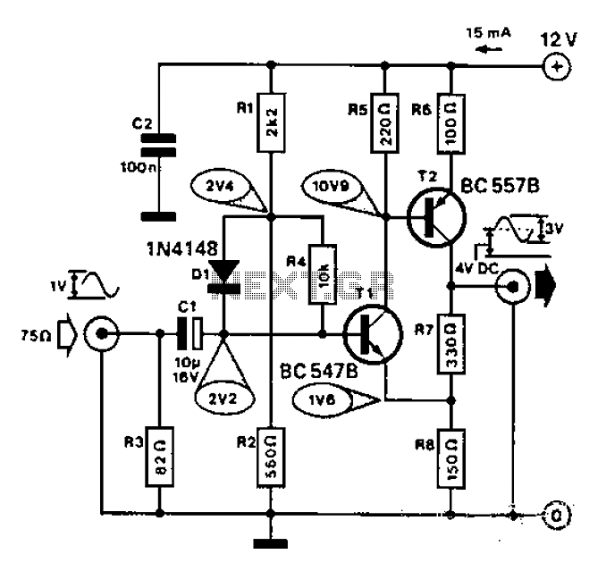 Video Amplifier Circuit Diagram Using Transistor