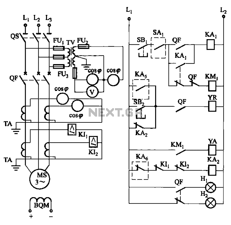 Synchronous motor full voltage start-up circuit : Motor
