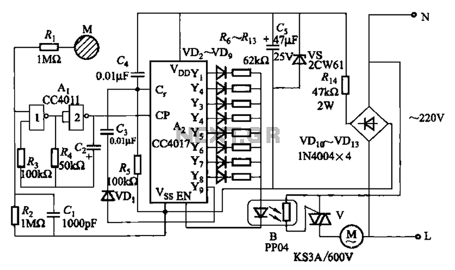 Touch fan speed control circuit eight stalls under Human
