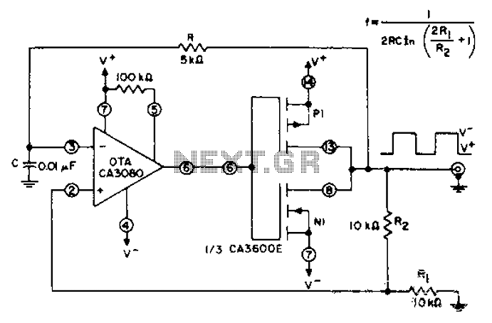 > other circuits > Unsteady circuit diagram of a CMOS
