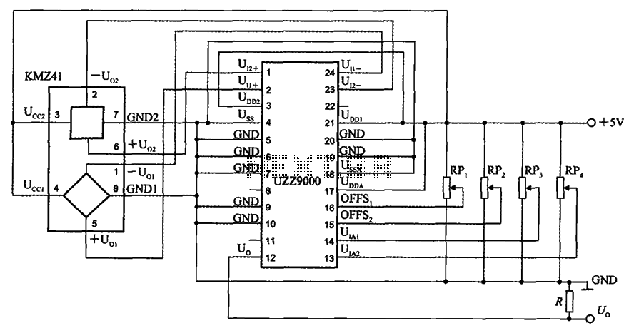 Voltage output type angle detection circuit signal