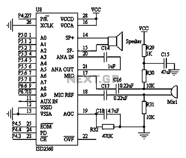 Wearable medical devices voice alarm circuit diagram under