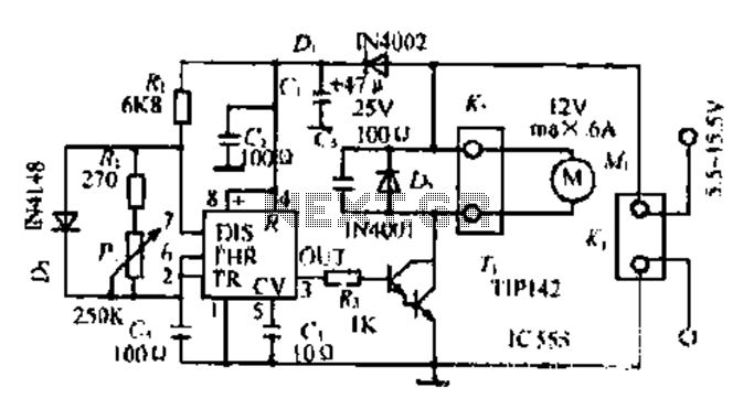 A DC motor PWM speed control circuit under Motor Control