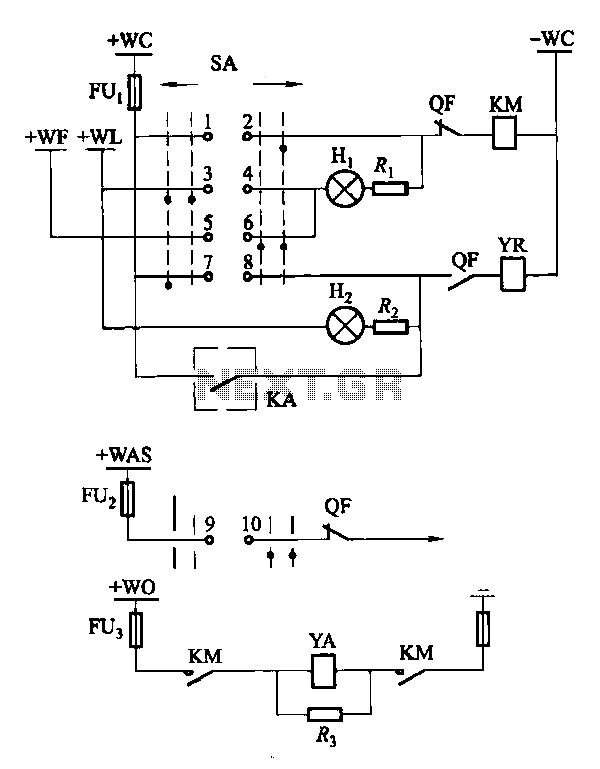 Breaker control signal circuit of the electromagnetic actuator under Power Control Circuits