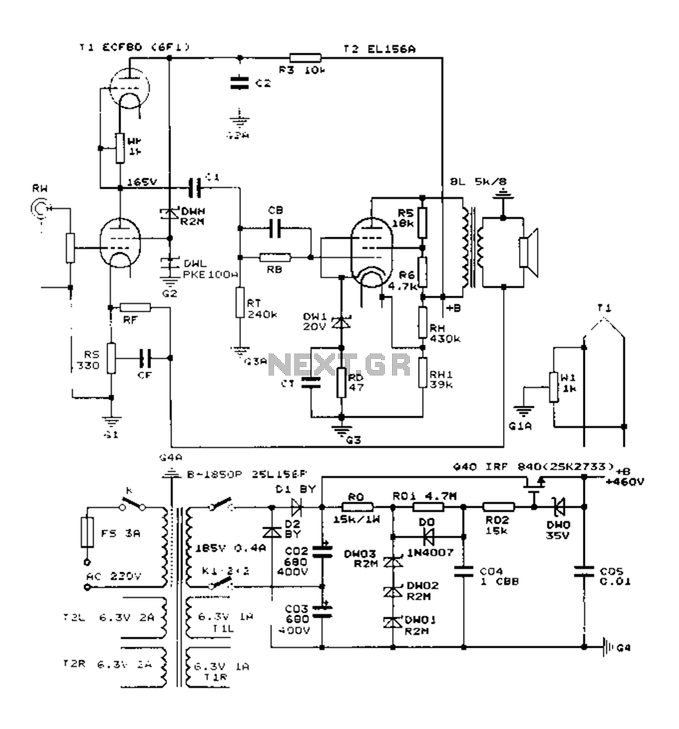 medium resolution of construction 25w single ended class a tube amp circuit diagram el156 25w hifi audio amplifier with mosfet circuit diagram
