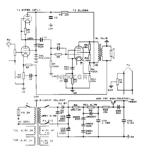small resolution of construction 25w single ended class a tube amp circuit diagram el156 25w hifi audio amplifier with mosfet circuit diagram