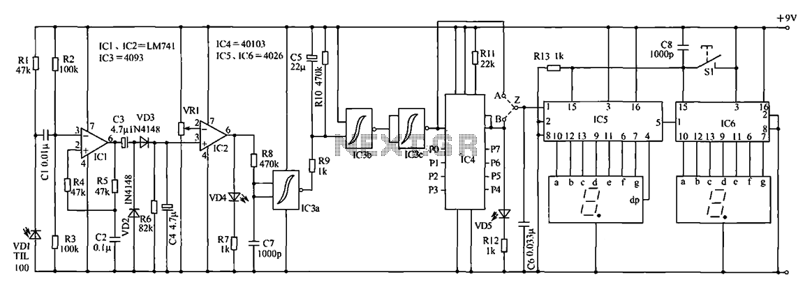 Counter circuit diagram of the digital circuit under