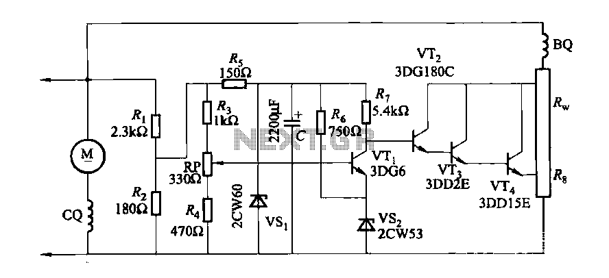 DC generator automatic voltage regulator circuit