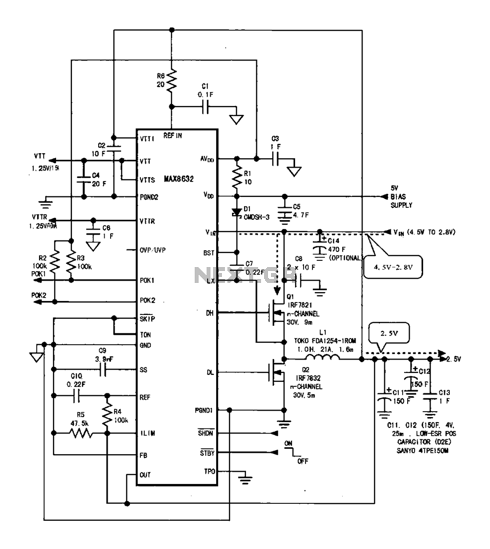 > power supplies > DDR memory power supply circuit l60281