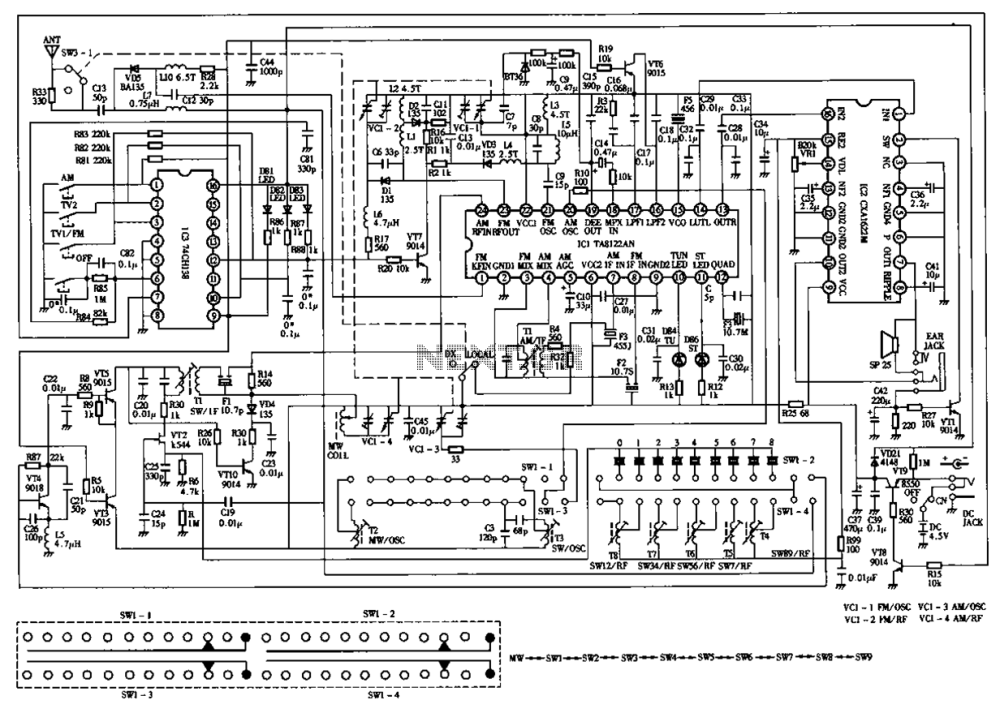 medium resolution of desheng 119 700 high sensitivity l2 band stereo radio circuit diagram