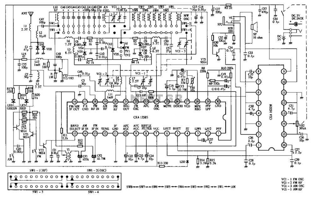medium resolution of tuner circuit diagram likewise fm radio receiver circuit diagram on radio receiver circuit diagram likewise transistor radio circuit