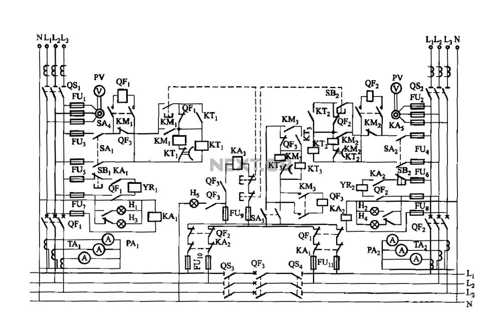 medium resolution of dual low voltage power supply circuit breaker electromagnetic closing each vote circuit
