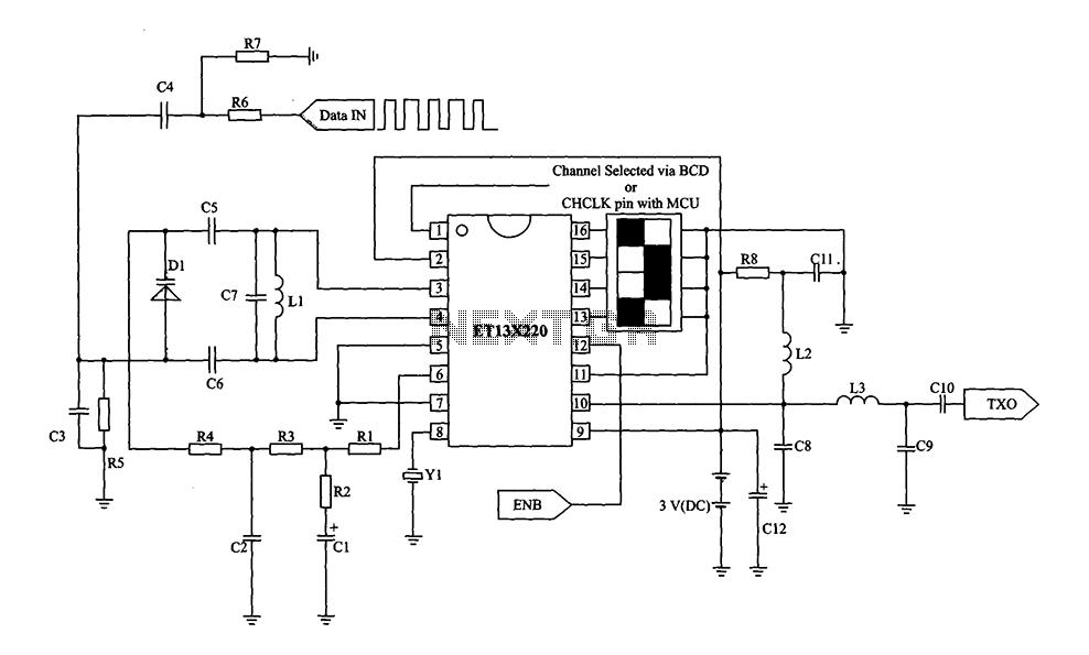 single chip fm transmitter circuit