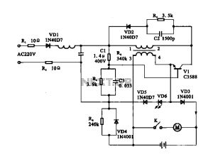 Electric shaver motor drive circuit under Motor Control