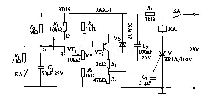 dc relay circuit to accelerate the release